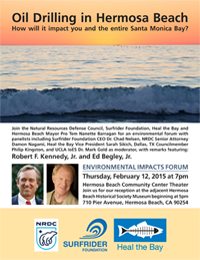 Hermosa Beach Feb. 12, 2015 Environmental Impacts Forum Flyer
