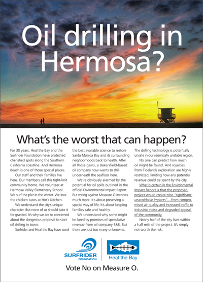 Surfrider-Heal the Bay Vote No on Measure O ER-TBR Ad #1 January 15, 2015