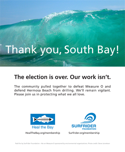 Surfrider-Heal the Bay Thank You on Measure O ER-TBR Ad #6 March 12, 2015
