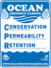 Ocean Friendly Gardens Sign
